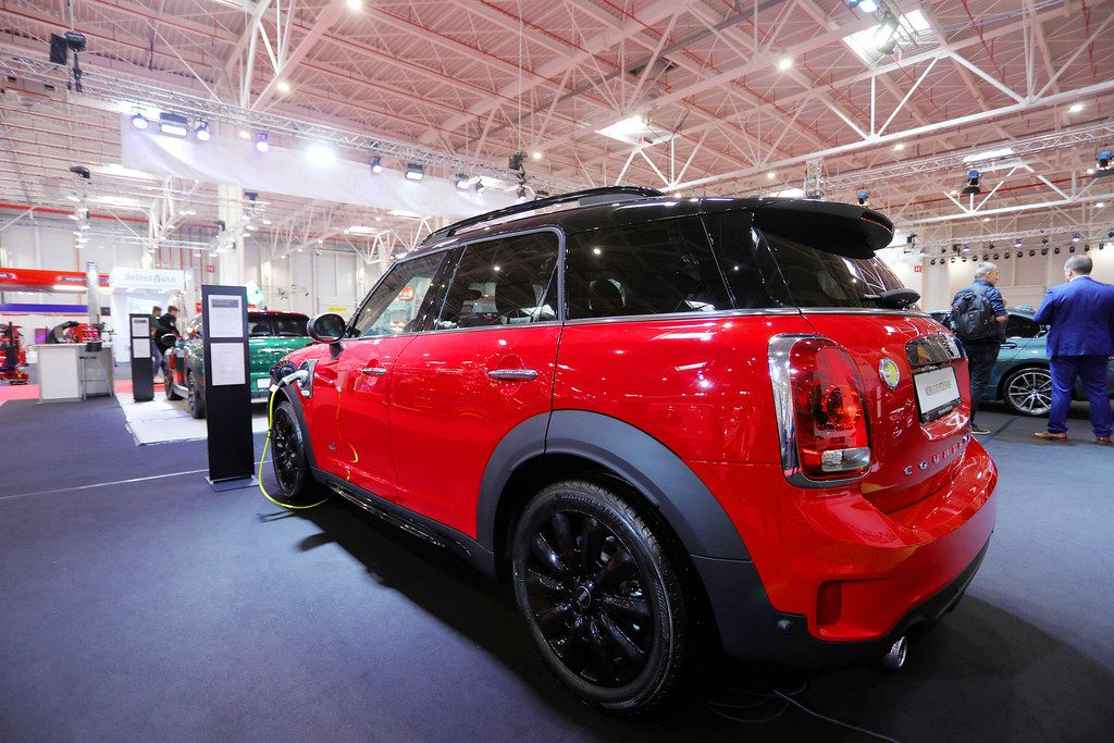 Mini Countryman, electric car charging at Bucharest Auto Show SAB 2019