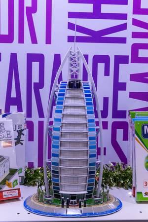 "Miniatur Wolkenkratzer Modellbau ""Burj Al Arab"" in Dubai"
