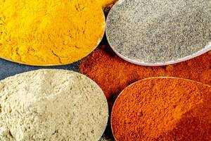 Mixed spice background. Top view