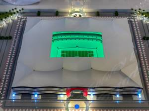 Model of Al Bayt Stadium