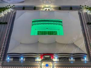 Model of Al Bayt Stadium