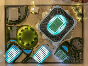 Model of Al Rayyan Stadium