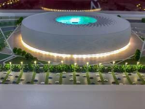 Model of Al Thumama Stadium