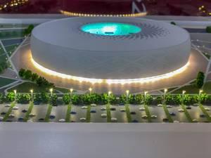 Model of Al Thumama Stadium