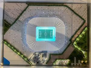 Model of Ras Abu Aboud Stadium