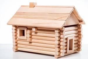 Model wooden vintage house - constructor for kids (Flip 2019)