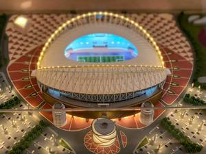 Modell des Khalifa International Stadions