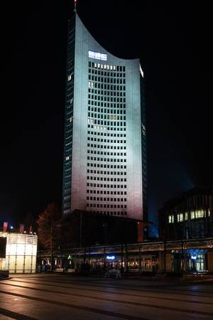 Modern high-rise building in Leipzig
