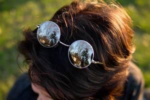 Modern sunglasses on a woman