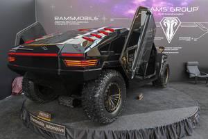 Moderner Humvee: Ramsmobile Protos RM-X2 SUV, V8 mit möglicher Plug-in-Hybrid Koppelung