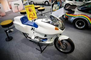 """Motorrad auf der Ausstellung """"Die Wilden 70er"""" vom Verband der Automobilindustrie e. V. (VDA)"""