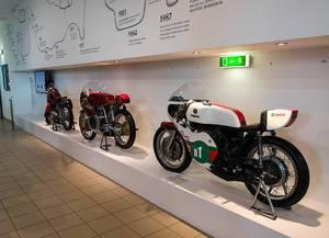 Motorrad-Ausstellung im Technischen Museum in Brünn, Tschechien