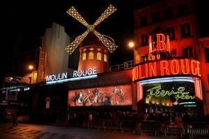Moulin Rouge cabaret in Paris, France