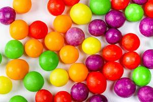 Multicolored round sweet candy background (Flip 2020)