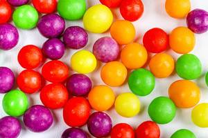 Multicolored round sweet candy background