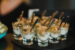 Musli And Cream Dessert On Glass Cups (Flip 2019)