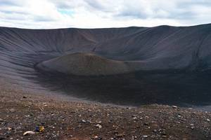 Myvatn volcano crater in Iceland / Myvatn Vulkan Krater in Island