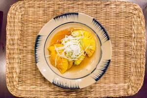 Nachtisch: Kandierte Ananas mit Wildhonig