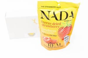 Nada - gefriergetrocknete Erdbeeren aus dem zehnten Türchen des veganen Foodist Active Adventskalenders