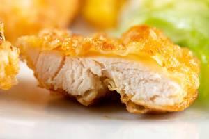 Nahaufnahme auf Fried Chicken Meat