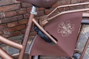 Nahaufnahme bronzefarbenes Fahrrad der Country Tour in Zandvoort, Niederlande