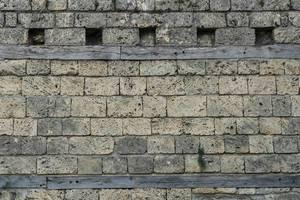 Nahaufnahme einer Steinmauer einer mittelalterlichen Burg