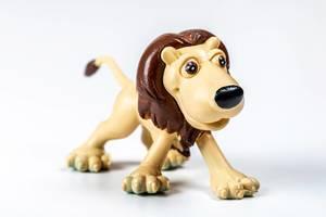 Nahaufnahme von Löwe Figur: Spielzeug für Kinder