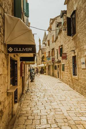 Narrow stone street of Trogir