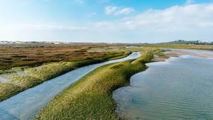 Natural resort with beautiful river near Faro, Portugal