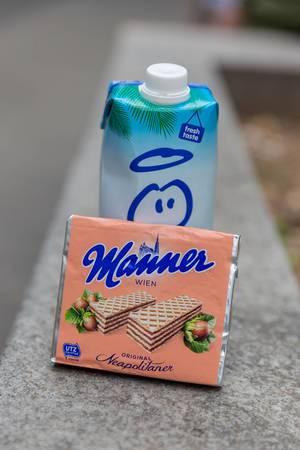 Neapolitaner-Waffeln von Manner und Milch