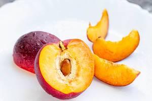 Nectarine fruit on the white background (Flip 2019) (Flip 2019)