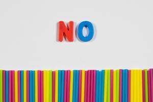 Nein zu Plastik-Trinkhalmen