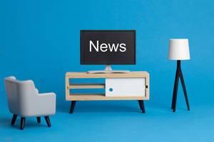News - Nachrichten auf einem Fernseher