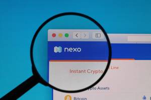 Nexo logo under magnifying glass