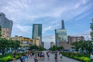 Nguyen Hue Fußgängerzone in Ho Chi Minh City