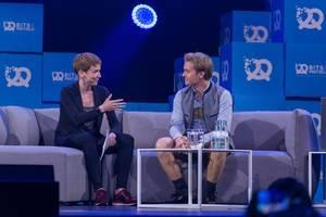 Nico Rosberg wird von Britta Weddeling interviewed