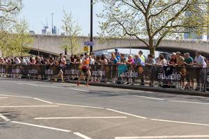 Nicolas Besson and Tom Aldred at London Marathon 2018
