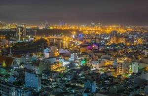 Night View of District 7 in Ho Chi Minh City