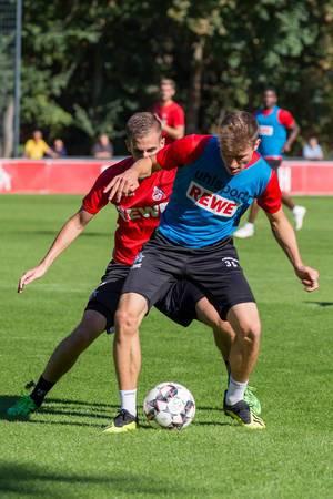 Niklas Hauptmann beim Training am 12.09.2018