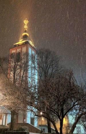 Nikolaikirche in Siegen im Schnee
