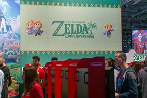 Nintendo Switch Area auf der Gamescom: Vorstellung des Action-Adenture-Spieleremakes The Legend of Zelda - Link