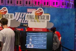 Nintendo Switch Spielestation mit Final Fantasy VIII - Remastered, auf der Spielemesse Gamescom in Köln