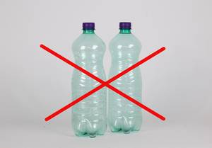 No plastic bottles