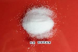 No sugar text