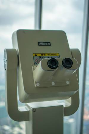 Non Coin Operated Binocular at Observation Deck of Petronas Twin Towers in KL