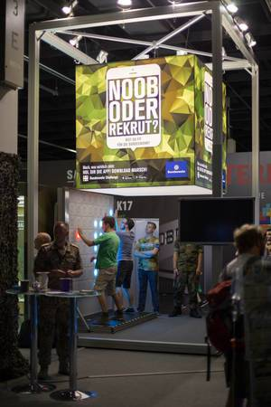 Noob oder Rekrut beim Bundeswehrstand