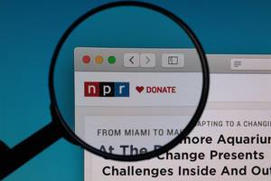 NPR logo under magnifying glass