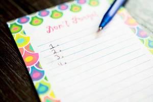 Nummerierte Liste in einem Notizblock