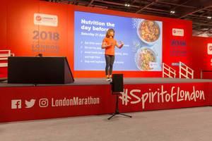 Nutritionist Anita Bean on stage