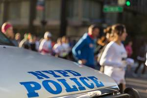 NYPD at Dash to the Finish Line 5K 2016